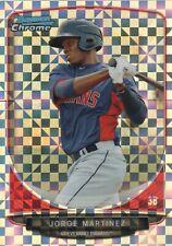 2013 Bowman Chrome Mini Baseball X-fractor #182 Jorge Martinez /100