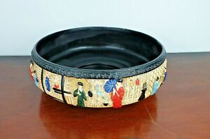 Vintage Cyples Old Pottery Embosa Ware English Decorative Bowl