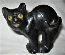 ANTIQUE HUBLEY CAST IRON CHILD ROOM HALLOWEEN CAT STATUE DOORSTOP US PAPERWEIGHT