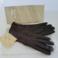 Vintage Gimbels Brown Leather Gloves Original Price Tag Box Very Soft Size 6.5