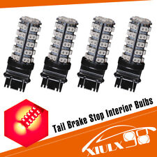 4 PCS Pure Red 3157 68-SMD LED Light Bulbs Brake Tail Stop Lights 3057 3457 3528