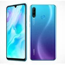 Vitre Arriere Huawei P 30 Lite + Cache Lentille - Bleu Aurora