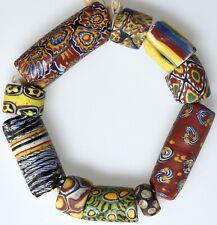 10 Mixed Venetian Millefiori & Other Trade Beads - African Trade Beads