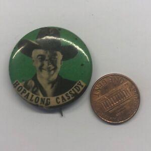 Vintage Pinback Button Badge Pin Hopalong Cassidy Cowboy