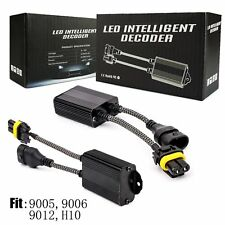 2x 9145 9140 H10 Fog Light Canbus LED Decoder Load Resistor Warning Canceller US