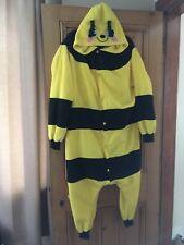 Adult Animal Cosplay Fancy Dress Costume Fleece Bumble Bee Hoody Onepiece sz Sml
