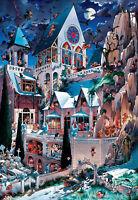 Puzzle The Castle of Horror, 2000 Teile, Loup, Cartoon, Dreieckbox, Heye