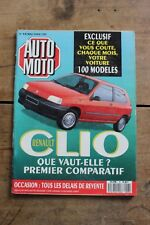Auto Moto - N°93 - 1990 - Lexus Ford Sierra Renault 19 Mercedes 300 Pan European