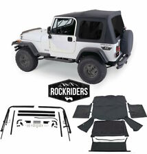 1976-1995 Jeep Wrangler & CJ7 Soft Top Kit for Jeeps w/ Full Doors Black Tinted
