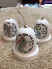 Precious Moments 3 Bell Porcelain Ornaments