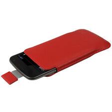 Rosso Pelle Pouch per Samsung Galaxy Nexus i9250 Custodia Case Cover Protezione