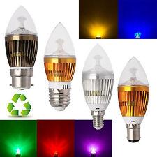 regulable E14 B22 E27 MULTICOLOR LED Candelabro Vela Lámpara Bombilla 6w