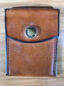 Filson Workshop - Unique vintage Leather snap wallet with brass snap