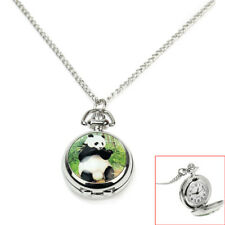 Necklace Silver Chain Pendant Gift Women Antique Dial Quartz Round Pocket Watch