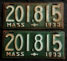 1933 Massachusetts License Plates  201,815