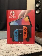 Nintendo Switch OLED Model HEG-001 - 64GB - Black/Neon Red/Neon In Hand!