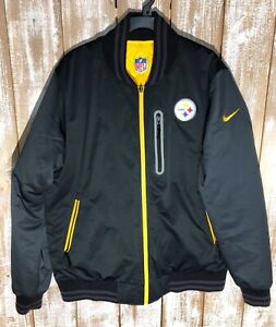 Nike Pittsburgh Steelers Men's Black & Yellow Reversible Insulated Jacket Sz L