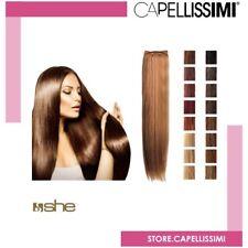 Matassa extension Tessitura she Capelli lisci NATURALI VERI 100 % cm 55/60