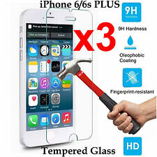 x3 Tempered Glass 9H screen protector Apple iPhone 6 6s PLUS Front