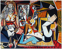 """Women of Algeris - 24x20"""" Hand Painted Pablo Picasso Oil Painting On Canvas Art"""