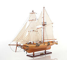 "Harvey 1847 Baltimore Clipper Wood Model Tall Ship 35"" Privateer Built Sailboat"