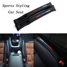 2X Car Sports Styling Seat Gap Filler Black PU Leather Accessory Spacer For BMW