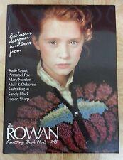 Rowan Knitting Magazine Book 2 ~ Kaffe Fassett Sasha Kagan Annabel Fox Patterns
