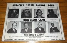 Small POSTER SATAN CANNOT DENY THE KING'S ARMY Detroit Banditos MC Member 1970s?