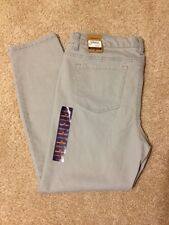 NWT Women's Bass Size 10 Slate Grey, Mid-Rise, Skinny Cropped Jeans
