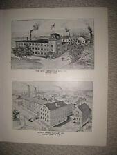 ANTIQUE 1893 NEW DEPARTURE BELL COMPANY BRISTOL MERIDEN CONNECTICUT PRINT RARE