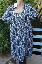 Sacred Collection BROWN & WHITE S/S Dress Size XL-18/20 NEW RRP$79.99 Twist Dry