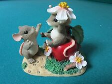 "CHARMING TAILS BY FITZ & FLOYD FIGURINE "" APPLE OF MY EYE"" INSPIRATIONAL"