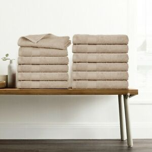 """Towel Set 12 Pack Cotton Hand Towel 18x28"""" Hand Towels by Ample Decor"""
