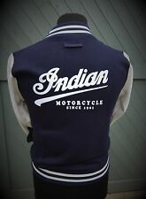 Indian Motorcycles Varsity Blue & white All Sizes