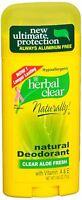 Herbal Clear Natural Deodorant Clear Aloe Fresh 2.65 oz