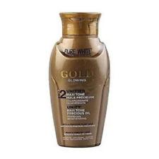 Pure White Cosmetics Gold Glowing 2 Unifer Maxi Tone Oil 3.3 oz