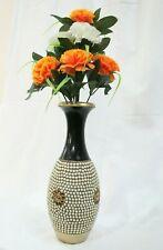 Handmade Ceramic Flower Vase Pot Stone Work Antique Home Table Office Decor