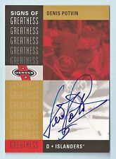 DENIS POTVIN 2000/01 UPPER DECK UD HEROES SIGNS OF GREATNESS AUTOGRAPH AUTO