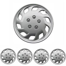 Hub Cap Covers for 15 inch Wheel Durable ABS Silver 4 Pieces OEM Replica Hubcaps