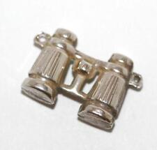 Binoculars Silver Vintage Bracelet Charm with Dutch Hallmarks