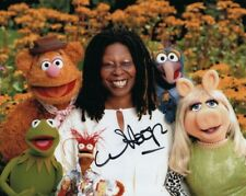 WHOOPI GOLDBERG signed autographed THE MUPPETS KERMIT & MISS PIGGY photo