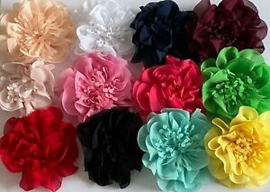 Handmade Chiffon Flower Shoes Clothes Hair Décor 8.5 cm Diameter