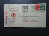 Australia 1944 Commercial Censor Cover to USA / Light Fold - Z10826