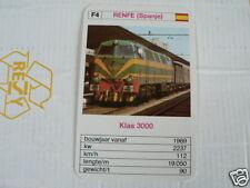 24 EK LOKS F4 RENFE SPAIN KLAS 3000 TRAIN TREIN KWARTET KAART,
