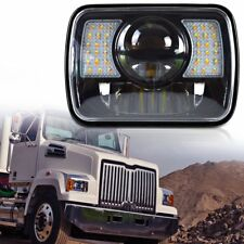 "1PC 7""x6"" H4 LED Cree Light Bulbs Clear Sealed Beam Crystal Headlight Headlamp"