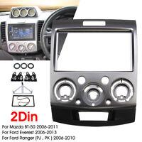 2 Din Radio Fascia Dash Panel Frame Adaptor For Ford Everes t Ranger Mazda BT-50