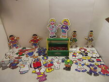 VINTAGE SESAME STREET MUPPETS SEWING LACING FIGURES OUTFITS CARDS CARRYING CASE