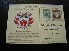 FRANCE - carte 9/12/1944 journee du timbre lyon (cy13) french