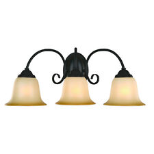 Oil Rubbed Bronze 3 Bulb Bathroom Light Wall Sconce #163835