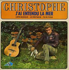 CHRISTOPHE J'AI ENTENDU LA MER FRENCH ORIG EP JACQUES DENJEAN